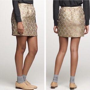 J. Crew Collection NWOT Goldenrod Brocade Skirt 4